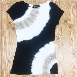 INC. Tie Due Sequin Cap Sleeve T-shirt